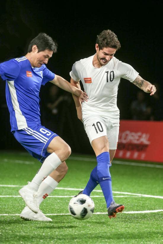 李毅帕托歐萊雅男士型男足球友誼賽