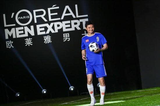 李毅歐萊雅男士型男足球友誼賽